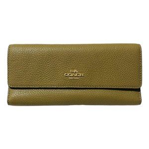 Women's COACH Soft Tri-fold Wallet